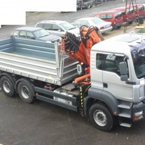 foto 6x4 kipper 33t MAN +Atlas 20m/4t winde